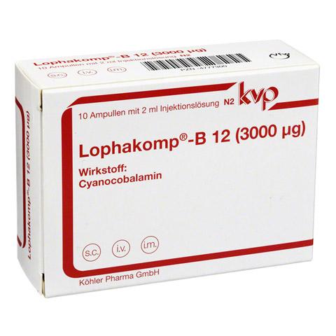 Lophakomp B12 3.000 µg Injektionslösung 10x2 Milliliter N2