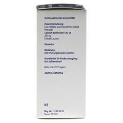 BIOCHEMIE Orthim 12 Calcium sulfuricum D 6 Tabl. 400 St�ck N3 - Rechte Seite