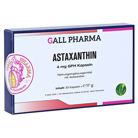 ASTAXANTHIN 4 mg GPH Kapseln 30 St�ck