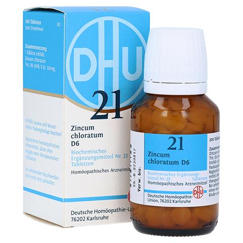 BIOCHEMIE DHU 21 Zincum chloratum D 6 Tabletten 200 St�ck N2