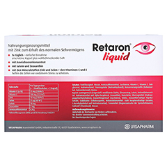 RETARON liquid Trinkampullen 45x25 Milliliter - R�ckseite
