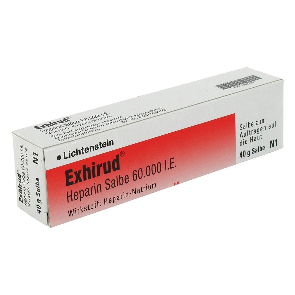 Zentiva Pharma GmbH Exhirud Heparin 60000I.E. Salbe 40 Gramm