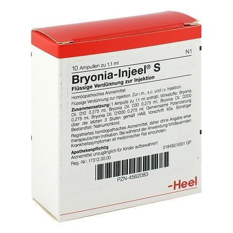 BRYONIA INJEEL S Ampullen 10 Stück N1