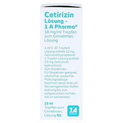 Cetirizin Lösung-1A Pharma 10 Milliliter N1 - Rechte Seite