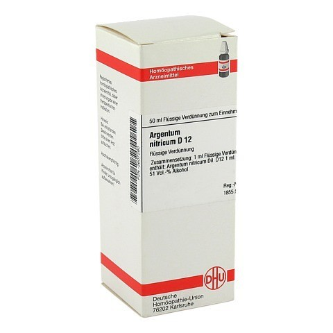 ARGENTUM NITRICUM D 12 Dilution 50 Milliliter N1