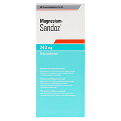 MAGNESIUM SANDOZ 243 mg Brausetabletten 40 Stück - Rückseite