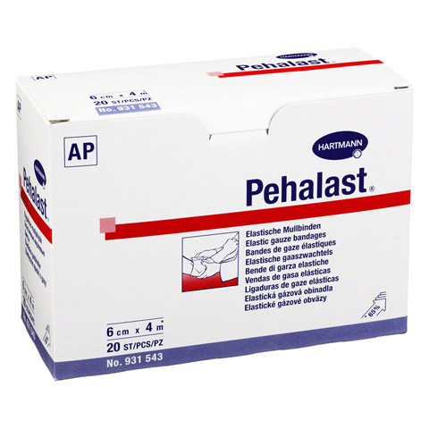 PEHA-LAST Mullbinde elastisch 6 cmx4 m lose 20 St�ck