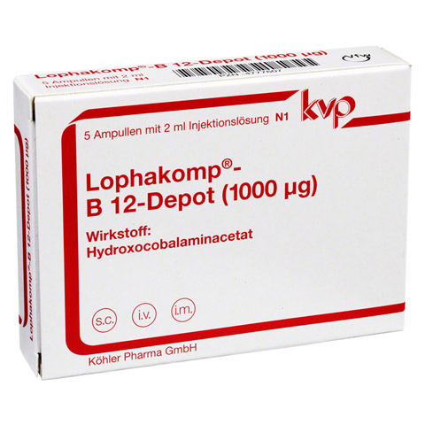 LOPHAKOMP B 12 Depot 1000 µg Injektionslösung 5x2 Milliliter N1
