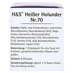 H&S heißer Holunder Vitaltee Filterbeutel 20 Stück - Linke Seite