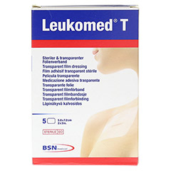 LEUKOMED transp.sterile Pflaster 5x7,2 cm 5 Stück - Vorderseite