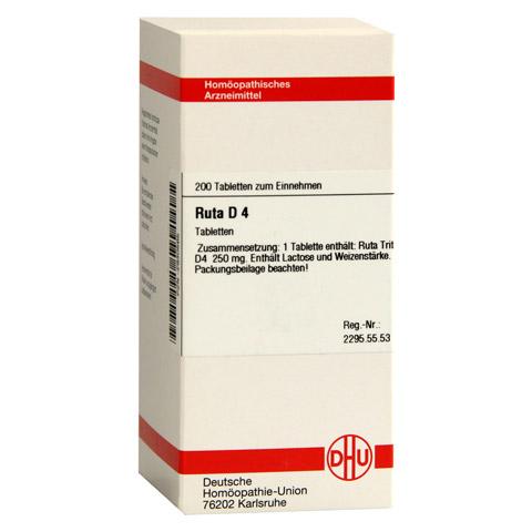 RUTA D 4 Tabletten 200 St�ck N2