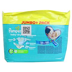 PAMPERS Baby Dry Gr.4+ maxi plus 9-20kg Jumbo plus 76 Stück - Rückseite