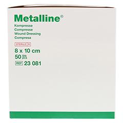 METALLINE Kompressen 8x10 cm steril 50 Stück - Vorderseite