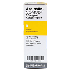 Azelastin-COMOD 0,5mg/ml 10 Milliliter - Linke Seite
