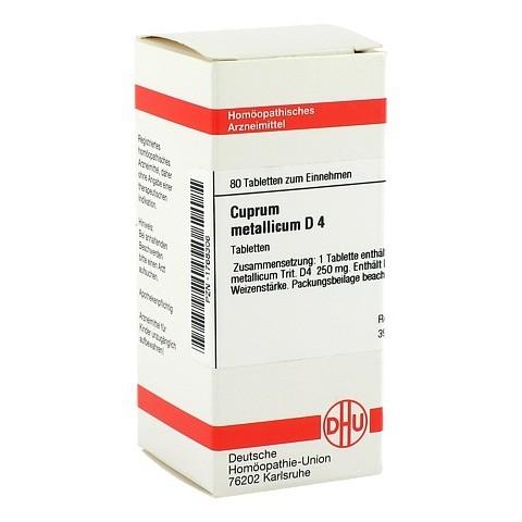 CUPRUM METALLICUM D 4 Tabletten 80 St�ck N1