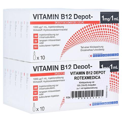 VITAMIN B12 Depot Rotexmedica Injektionslösung 100x1 Milliliter