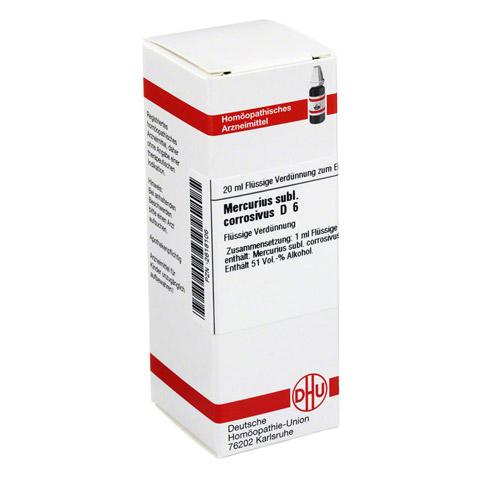 MERCURIUS SUBLIMATUS corrosivus D 6 Dilution 20 Milliliter N1