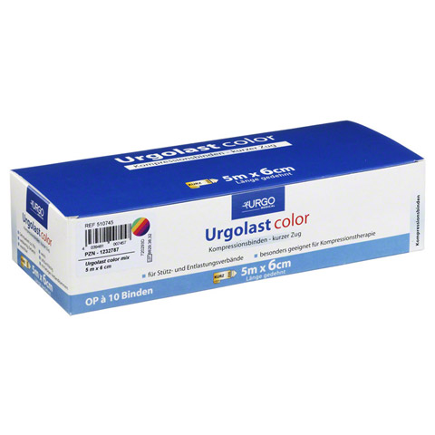 URGOLAST Color Mix Binde 6 cmx5 m 10 St�ck