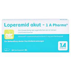 Loperamid akut-1A Pharma 10 Stück N1 - Vorderseite
