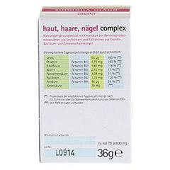 HAUT HAARE Nägel Complex Bio Tabletten 60 Stück - Rückseite