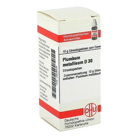 PLUMBUM METALLICUM D 30 Globuli 10 Gramm N1