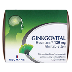 GINKGOVITAL Heumann 120mg 120 St�ck N3 - Vorderseite