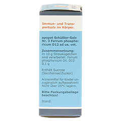 APOPET Sch��ler-Salz Nr.3 Ferrum phos.D 12 vet. 12 Gramm - Rechte Seite