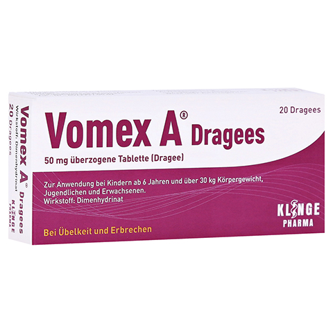 Vomex A Dragees 20 St�ck N1