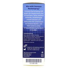 SNOREEZE Schnarchlinderung Rachenspray 23.5 Milliliter - Linke Seite