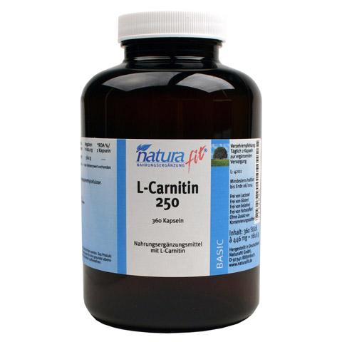 NATURAFIT L-Carnitin 250 Kapseln 360 St�ck