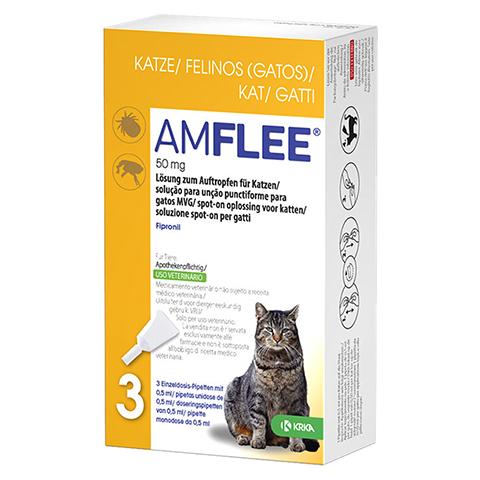 AMFLEE 50 mg Lösung zum Auftropfen f.Katzen 3 Stück