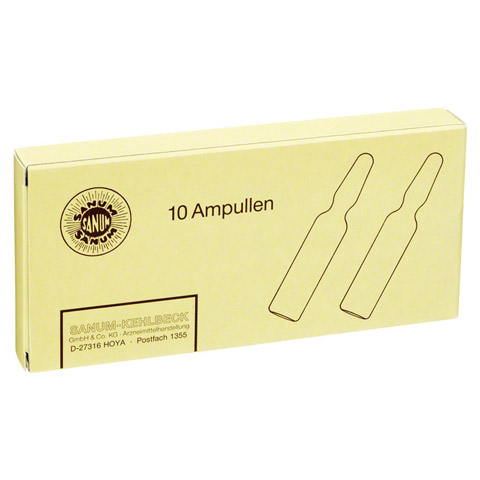 ZINKOKEHL Ampullen D 4 10x2 Milliliter N1