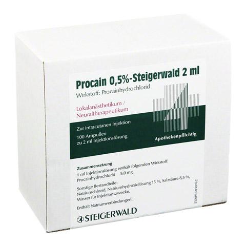 PROCAIN 0,5% Steigerwald Injektionslösung 100x2 Milliliter