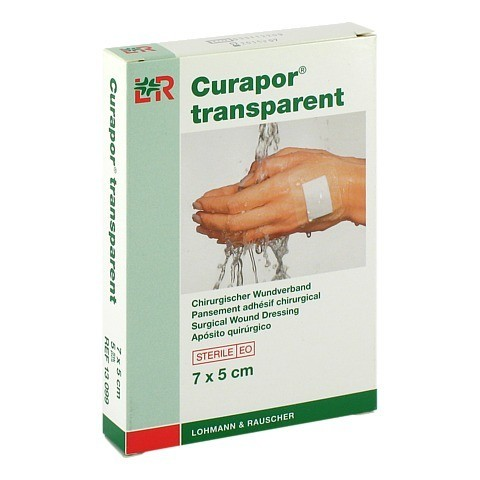 CURAPOR Wundverband steril transparent 5x7 cm 5 Stück