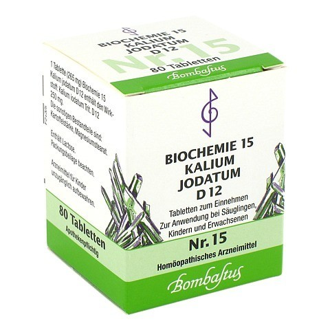 BIOCHEMIE 15 Kalium jodatum D 12 Tabletten 80 Stück N1