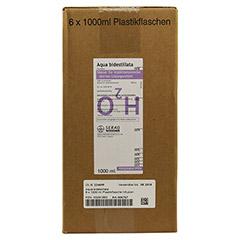 AQUA BIDEST Plastik 6x1000 Milliliter - Linke Seite