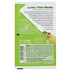 LUVOS Naturkosmetik Heilerde Vital Maske 2x7.5 Milliliter - Rückseite