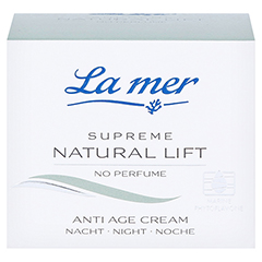 LA MER SUPREME Natural Lift Anti Age Cream Nacht ohne Parf�m 50 Milliliter - Vorderseite