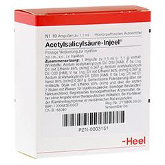 ACETYLSALICYLS�URE Injeel Ampullen 10 St�ck N1