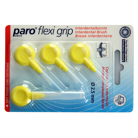 PARO Isola Flexi Grip Interdentalb.zyl.2,5mm gelb 4 St�ck