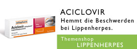 Lippenherpes Aciclovir-ratiopharm Themenshop