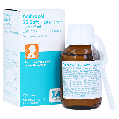 Ambroxol 15 Saft-1A Pharma 100 Milliliter N1