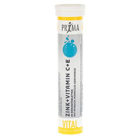 PRIMA VITAL Zink+Vitamin C+E Brausetabletten 20 Stück