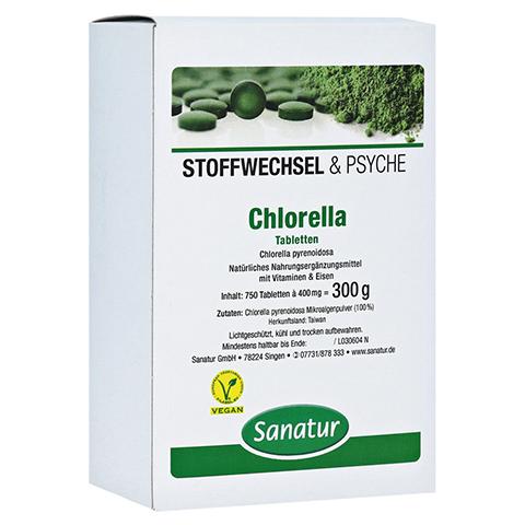 CHLORELLA MIKROALGEN 400 mg Sanatur Tabletten 750 Stück
