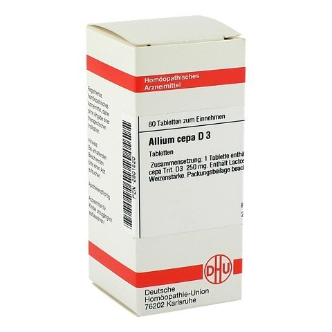 ALLIUM CEPA D 3 Tabletten 80 St�ck N1