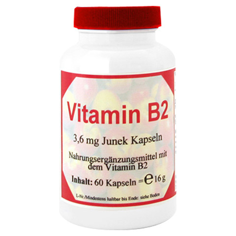 VITAMIN B2 3,6 mg Junek Kapseln 60 Stück