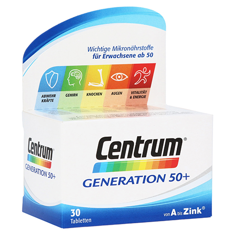 CENTRUM Gen.50+ A-Zink+FloraGlo Lutein Caplette 30 Stück