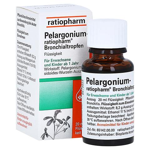Pelargonium-ratiopharm Bronchialtropfen 20 Milliliter