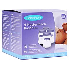 LANSINOH Muttermilchflaschen 160 ml Weithals 4 Stück