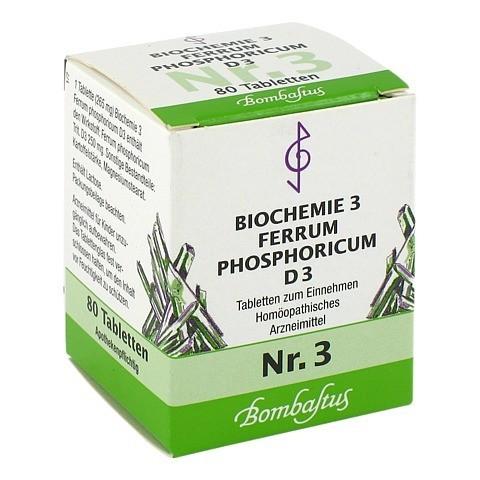 BIOCHEMIE 3 Ferrum phosphoricum D 3 Tabletten 80 Stück N1